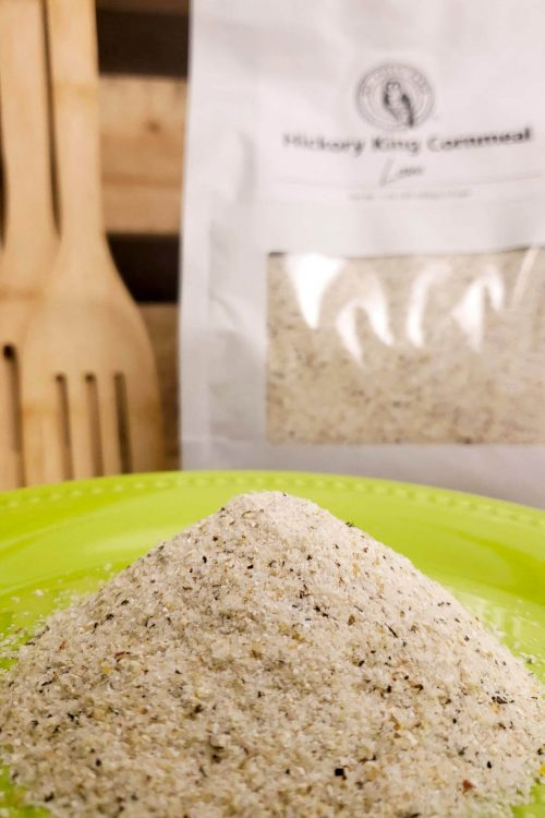 Hickory King cornmeal from organic grains grown at Laura Freeman's Mt. Folly Farm.