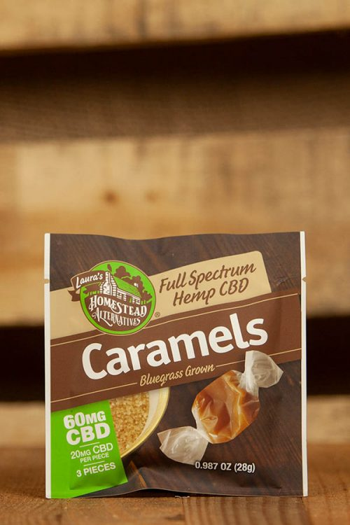 Full Spectrum CBD Oil Sweets Caramels 60mg 3 Pack