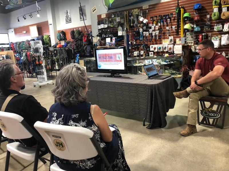 Ben Pasley, COO of Laura's Mercantile speaking at J&H Lanmark in Lexington KY