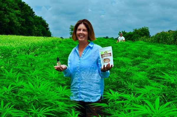 Laura Freeman in Organic Hemp Farm