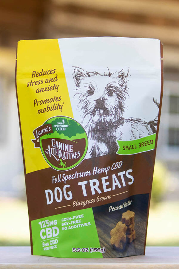 CBD dog treats for small dogs made with organic hemp