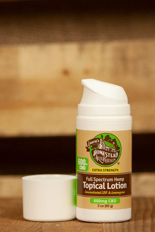 Full Spectrum CBD Oil Topical Lotion Travel 600mg Extra Strength - Lemongrass
