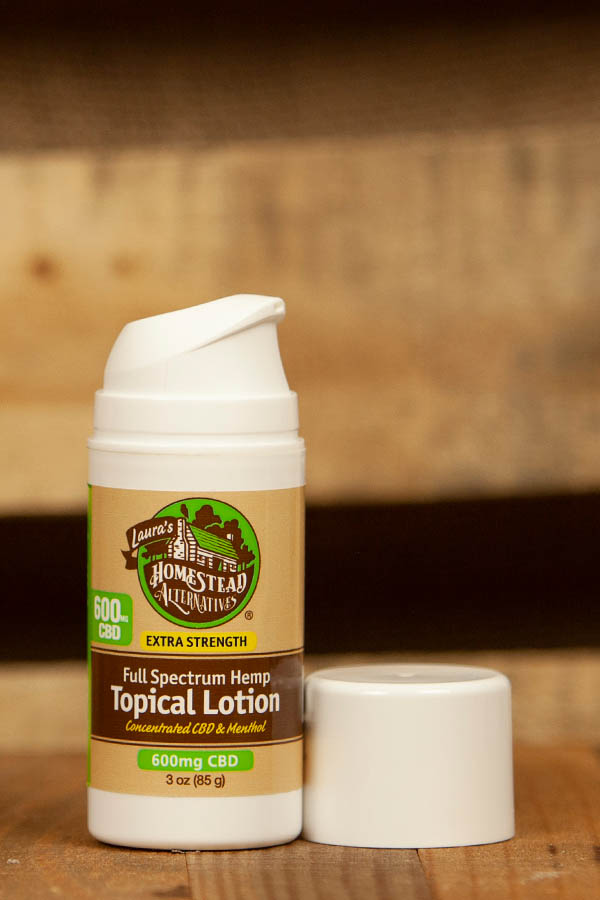 Full Spectrum CBD Oil Topical Lotion Travel 600mg Extra Strength - Menthol