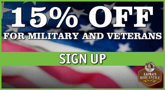 15% off for Military and Veterans