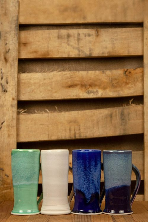 Dirty South Pottery Hand Thrown Porcelain Clay 4 Mugs
