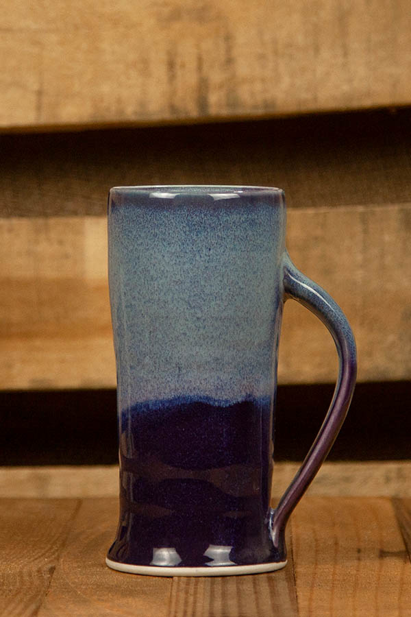 Dirty South Pottery Hand Thrown Porcelain Clay Shades of Blue