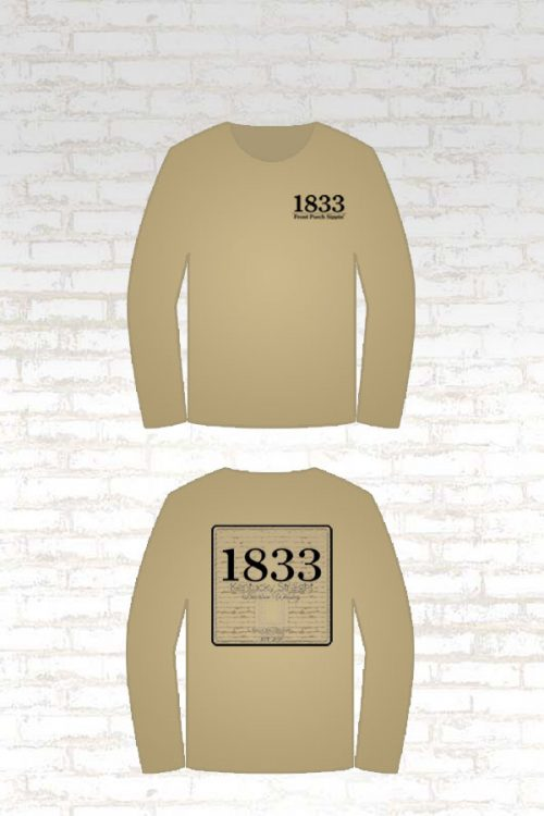 Wildcat Willy's Distillery 1833 Single Barrel Bourbon Front Porch Sippin' Long Sleeve Shirt