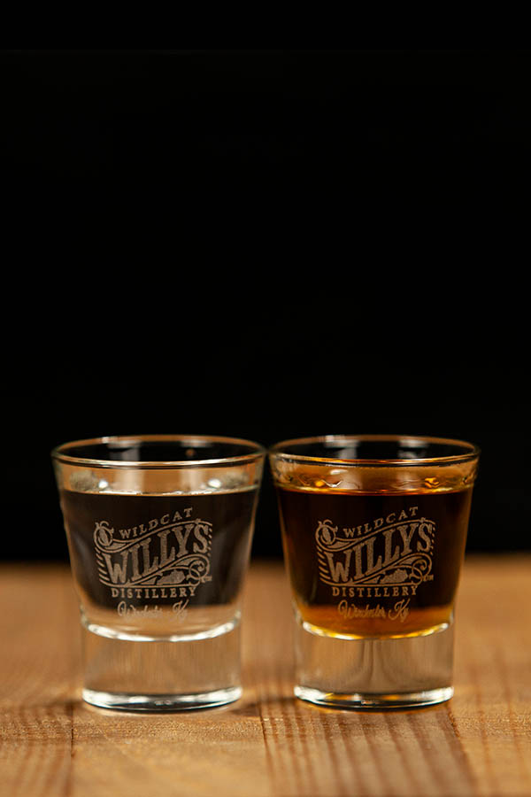 Wildcat Willy's Distillery 2.25 oz V Shot Glass