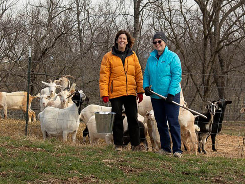 2020 February Laura's Letter - Laura, Susan, and Goats